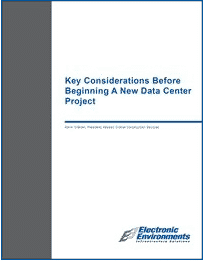 EEC White Paper - Key Considerations Before Beginning a New Data Center Project