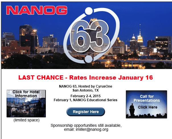 NANOG Rate Increase