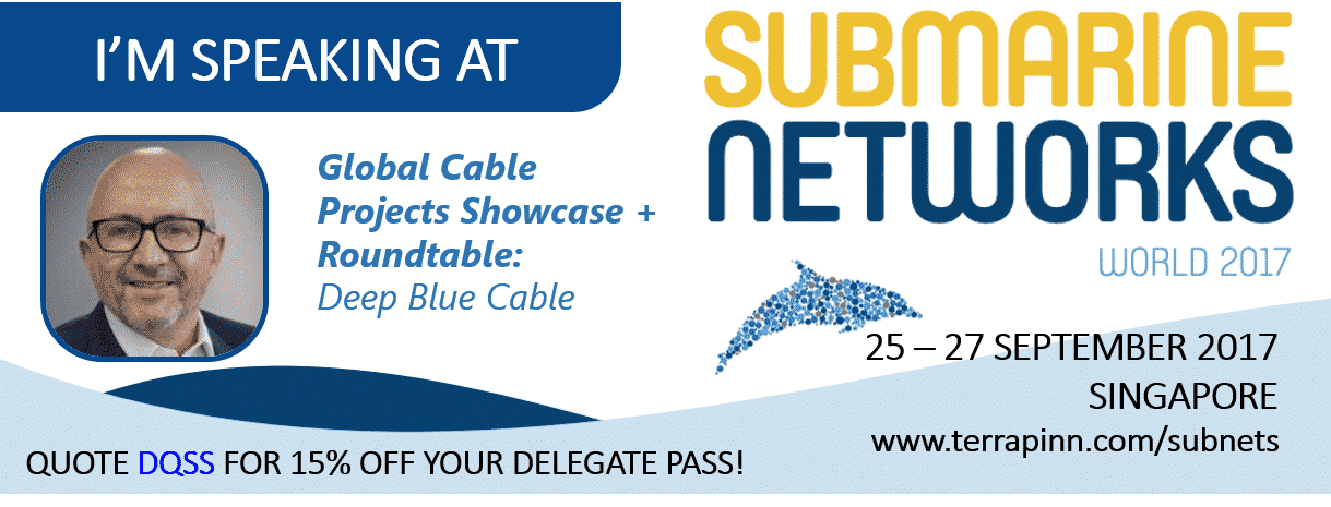 Deep Blue Cable to Speak at Submarine Networks World 2017