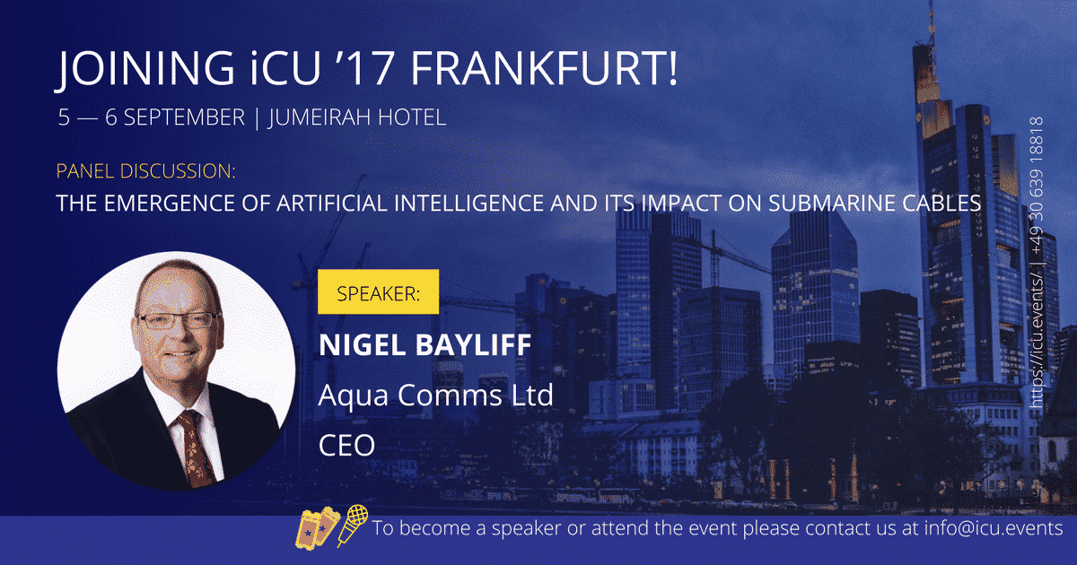 Aqua Comms to Speak at iCU'17 Frankfurt and iCU'17 Amsterdam