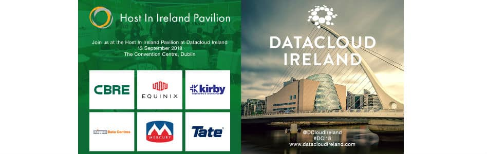 Host in Ireland to Host Partner Pavilion at Datacloud Ireland 2018