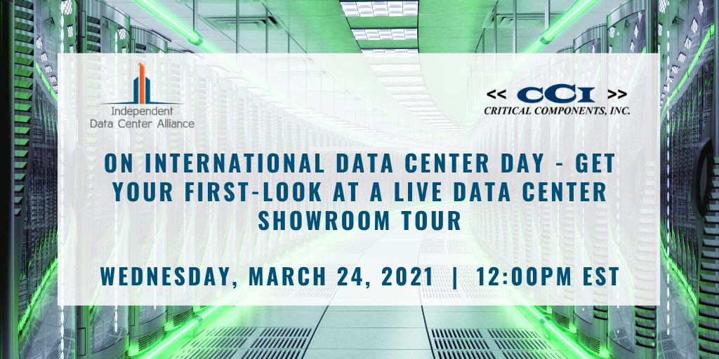 Celebrate International Data Center Day with IND-DCA and Critical Components, Inc. With A Virtual Data Center Showroom Tour