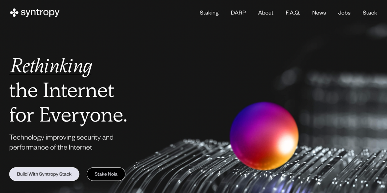 Syntropy Introduces its New Website and Plans for Rethinking the Internet